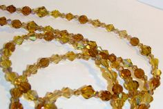 Mixed Yellow Topaz Faceted Glass Eyeglass Chain Office by nonie615, $14.00