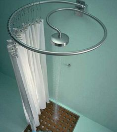 Space-saving bathroom design...This would be cool for the basement!