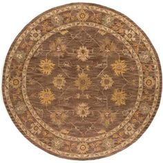 Artistic Weavers Middleton Lily Brown 6 ft. x 6 ft. Round Indoor Area Rug-AWHR2051-6RD - The Home Depot