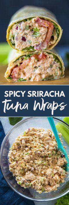 Spicy Sriracha Tuna Wraps | Gimme Delicious