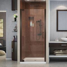 DreamLine Elegance 28-3/4 in. to 30-3/4 in. x 72 in. Semi-Frameless Pivot Shower Door in Oil Rubbed Bronze