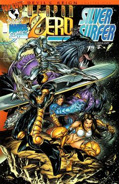 Weapon Zero/Silver Surfer - Devil's Reign Chapter 1 released by Top Cow on January 1997 Mephisto tricks Silver Surfer to help him to get into Top Cow universe, where he meets the T'srri warriors, investigating an interdimensional rift. Dark Souls 4, Arte Dark Souls, Jim Lee, Marvel Comics, Ms Marvel, Marvel Art, Captain Marvel, Comic Book Covers, Comic Books