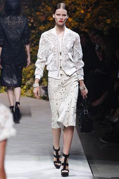 Loewe's intricately cut jacket white leather bomber