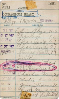 Oldest Elvis Presley autograph, found in a library shelf.