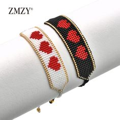 Diy Friendship Bracelets Patterns, Diy Bracelets Easy, Bead Loom Bracelets, Beaded Wrap Bracelets, Bead Loom Designs, Bead Loom Patterns, Beaded Flowers Patterns, Beaded Jewelry Patterns, Diy Bead Embroidery