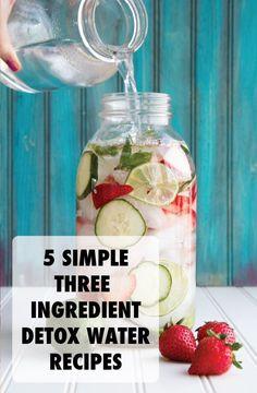 three ingredient detox water recipes