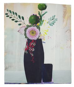 Anke Roder collage 'Folk Flowers' 2014