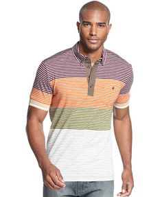Sean John Big   Tall Colorblocked Stripe Polo Polos f3e9acf415cf3
