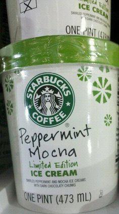#Starbucks Christmas Ice cream! nummm
