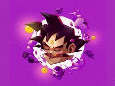 [Dragon Ball] Goku illustration by me Dragon Ball Goku, Dbz, Illustration, Minnie Mouse, Disney Characters, Fictional Characters, Digital Art, Character Design, Behance