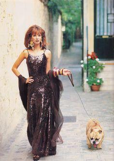 "https://flic.kr/p/JbU1aJ   Vogue Italia ""C'est Paris"" Sett. 1992   Christy Turlington shot by Arthur Elgort"