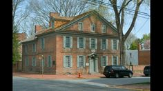New Castle DE. Typical houses found in its historic district.