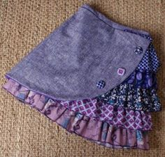 Ruffle side skirt inspiration. Link to purchase but I'd rather make one. How cute are these?