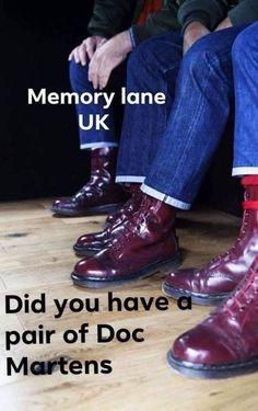 Dr Martens Boots, Doc Martens, Retro Clothing, Retro Outfits, Childhood Memories, Nostalgia, Oxford Shoes, Dress Shoes, England