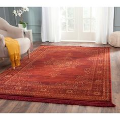 """Amelia Area Rug - Ruby/Gold (3'3"""" X 5'3"""") - Safavieh, Red/Red"""