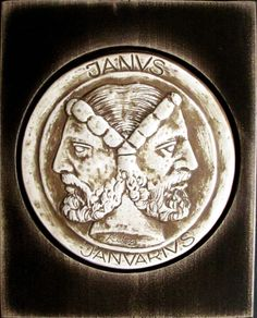 Janus - the Roman god - mythology corrupted the legend of Noah into worship of him as Oannes, the fish-man god and also as Janus, the god who could look back (to the pre-flood world) and forward (to the post-flood world) Roman Gods, Biblical Art, Janus, Black Gift Boxes, Two Faces, Vanitas, Praise And Worship, Greek Gods, Gods And Goddesses