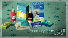 """twofingerswhiskey: """"  Pharmacy Items Part II  As a seconding to my earlier post, here's some more pharmacy items for your simmies! :D Includes stuff for transgender, diabetic, allergic, injured, pro-choice, and sick sims. :DD Download here! :)..."""
