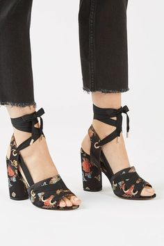 ROSCOE Satin Sandals - Topshop USA