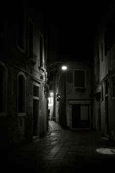 Venice Street Italy Travel Black and White Wall Art by janepackard, €24.00