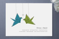 Invitaciones de Boda Minimalistas. Imagen de Minted.com