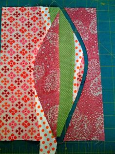 Curved Piecing---Would Make A Great Quilt Back
