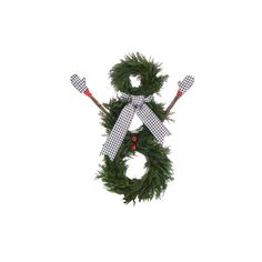 Houndstooth Holiday Snowman Wreath. Luv this one also