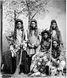 Shoshone men - circa 1875