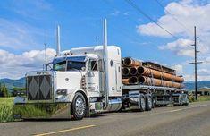 Alan Sweet Looking Ride! Dump Trailers, Flatbed Trailer, Trailers For Sale, Big Rig Trucks, Semi Trucks, Cool Trucks, Peterbilt 389, Peterbilt Trucks, Diesel Pickup Trucks