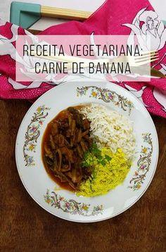 Opção vegana à carne louca: carne de banana :-) // palavras-chave: receita, receita fácil, casa e cozinha, cozinha, receita barata, comida saudável, alimentação, vegan, ogros veganos, comida vegana, banana, fruta, comida salgada com fruta, receita fácil vegana, receita vegana gostosa, receita vegetariana, vegetarian food, farofa, arroz, almoço, jantar, saúde.