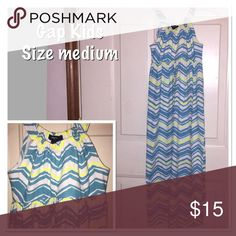 Gap Kids Chevron Maxi Dress Stylish summer dress. Maxi style with chevron pattern. Great condition - 2 available GAP Kids Dresses Casual
