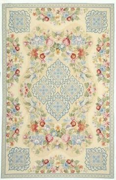 Beautiful Cottage Roses Rug