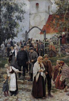 Janis Rozentals (LatvianPainter).- After Church