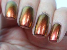 Dance Legend Chameleon Collection: Boo (094) is a golden copper base which shifts to a  light golden green
