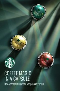 Magic in a capsule: That's what new Starbucks by Nespresso for Vertuo is bringing to your table. With our signature café-quality taste, smooth crema, and both coffee and espresso sizes, each cup is crafted to be exactly what you want, when you want it.