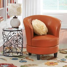 Rebecca Leather Swivel Chair