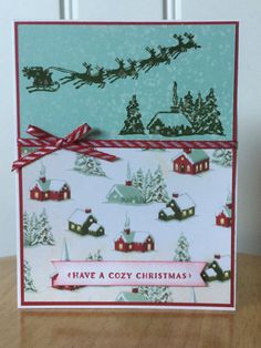 Stampin Up handmade Christmas card cozy Christmas by treehouse05