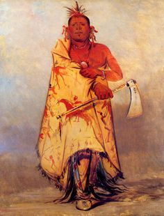 Big Elk Chief of the Omaha Indian Tribe 15x22 George Catlin Native American art