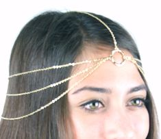 CHAIN HEADPIECE head chain headdress by LovMely on Etsy