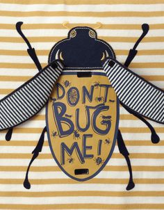 Don't Bug Me Flipbook T-Shirt | Yellow | Monsoon