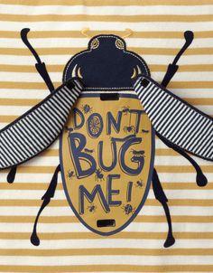 Don't Bug Me Flipbook T-Shirt   Yellow   Monsoon
