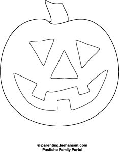 pumpkin face coloring page, happy face
