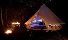 Blackberry Wood Camp by Tony Tomlinson, via Flickr
