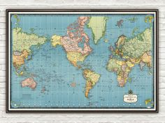 Old World Map Mercator projection - product image