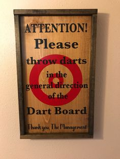 A new custom order that we can make for anyone. If your interested contact us. Excited to share the latest addition to my #etsy shop: DART  BOARD SIGN/Man Cave sign/Bar sign