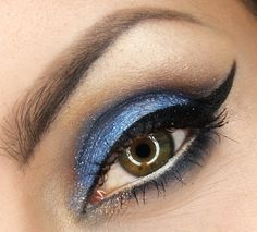 "'Smoky eye in a Grenade"" by dzastina252 using the Makeup Geek Corrupt, Nautica, and Vanilla Bean eyeshadows."