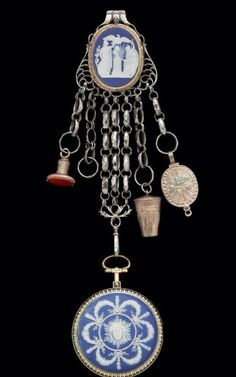 Beautiful chatelaine with watch