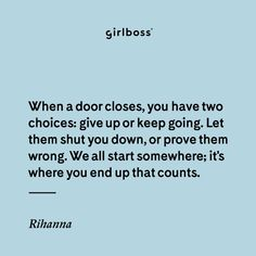 These Rihanna quotes will give you life. Wise worse from the music iconic, fashion legend, beauty entrepreneur, and of course, Queen of quotes. Great Quotes, Love Quotes, Rihanna Quotes, Fierce Women, Focus On Your Goals, In My Feelings, Baddie Quotes, Magic Words, You Gave Up
