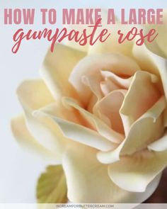Learn gumpaste roses, sunflowers, succulents and peonies. You don't want to miss these step-by-step tutorials for how to make gumpaste flowers. Lot's of ideas for sugar flowers for decorating cakes.