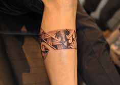 palm tree tattoos for men | Polynesian tattoos originated among tribes living on the Polynesian ...