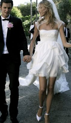 Pucci wedding dress-Anja Rubik